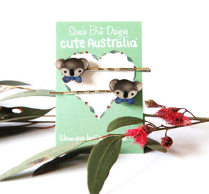 Cute Australia koala club hair slides