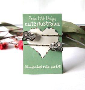 Cute Australia sugar glider hair slides