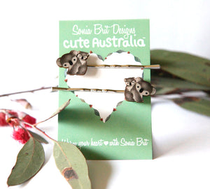 Cute Australia koala hair slides