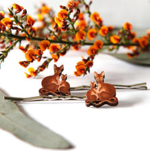 Load image into Gallery viewer, Cute Australia wallaby hair slides