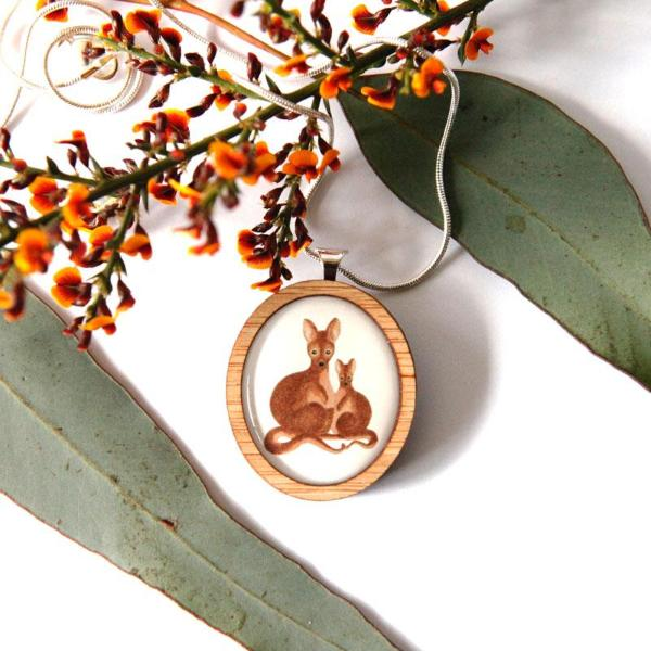 Cute Australia Wallaby Necklace