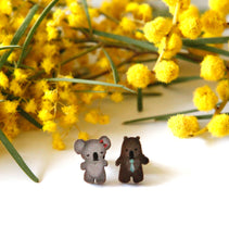 Load image into Gallery viewer, Cute Australia koala & wombat friends studs