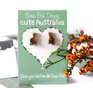 Cute Australia wallaby studs