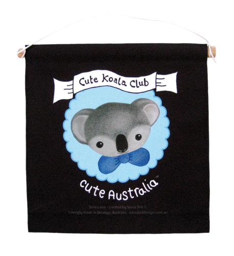 Cute Australia koala club wall hanging