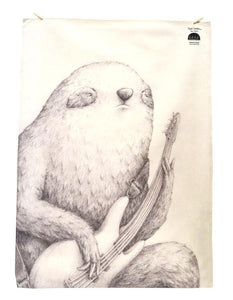 BOB HUB tea towel - Bass Sloth