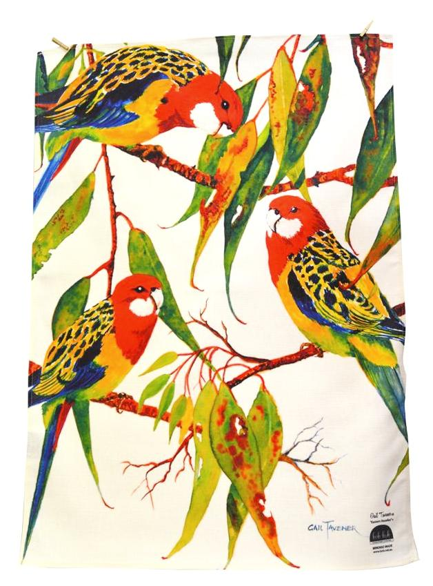 BOB HUB tea towel - Eastern Rosellas