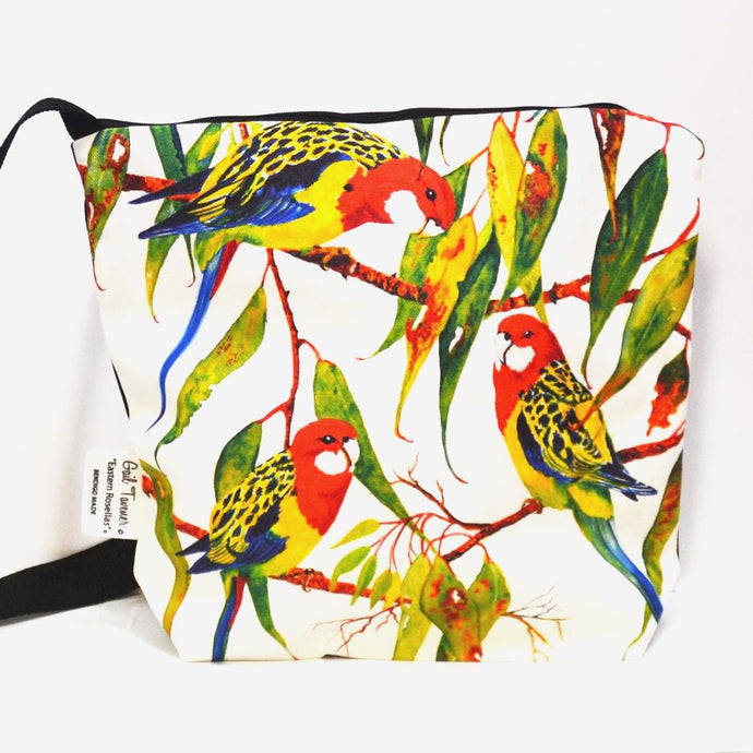 BOB HUB satchel bag - Eastern Rosellas