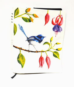 BOB HUB journal cover - Blue Wren
