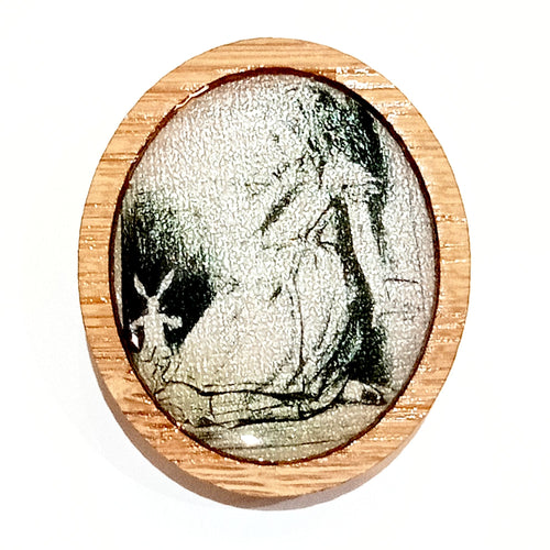 Sonia Brit Resin brooch - Alice & White Rabbit