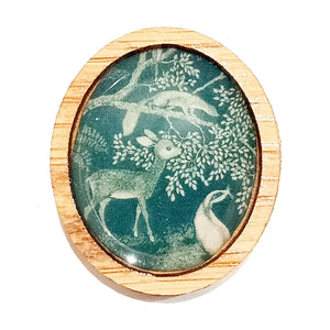 Sonia Brit Resin brooch - Woodland creatures