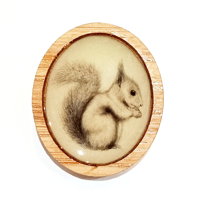 Sonia Brit Resin brooch - Cheeky Squirrel