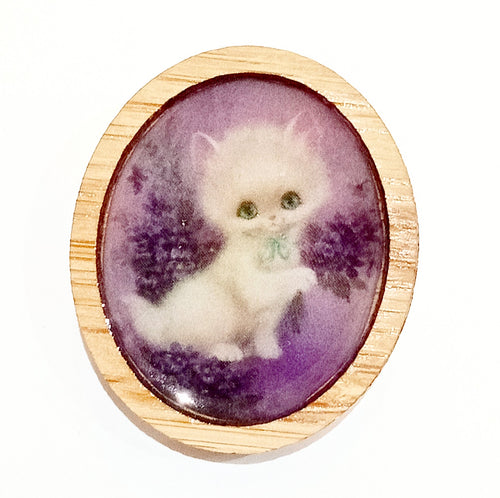 Sonia Brit Resin brooch - Sweet Kitty