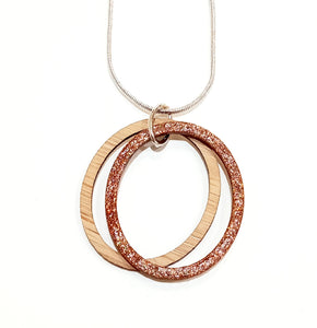 Bronze glitter necklace