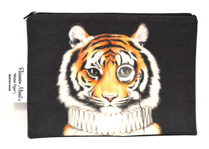 BOB HUB zip pouch - Mr Tiger