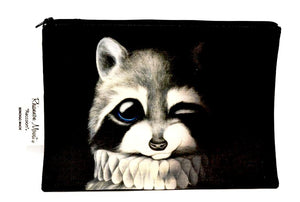 BOB HUB zip pouch - Raccoon