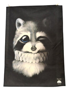 BOB HUB tea towel - Raccoon