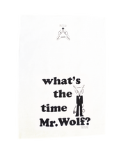 Load image into Gallery viewer, Sonia Brit Design tea towel Mr.Wolf