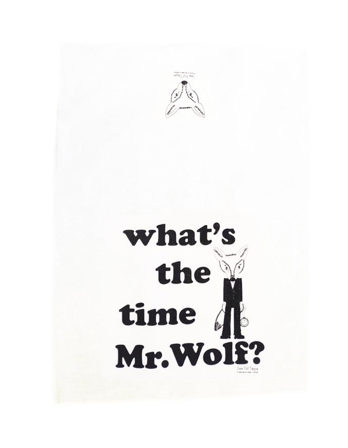 Sonia Brit Design tea towel Mr.Wolf