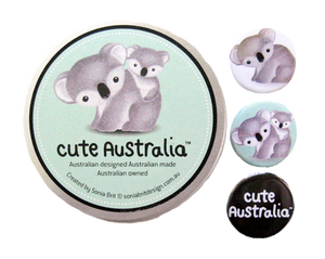 Cute Australia koala badge set