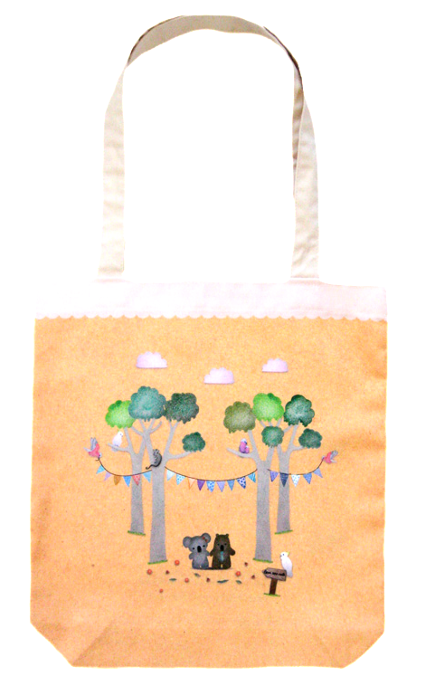 Cute Australia koala & wombat friends bag