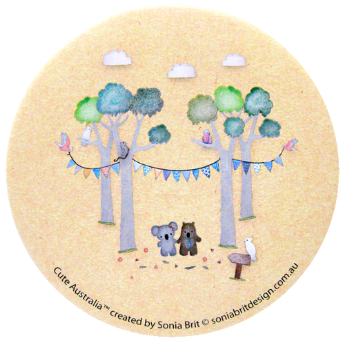 Cute Australia koala & wombat friends mirror