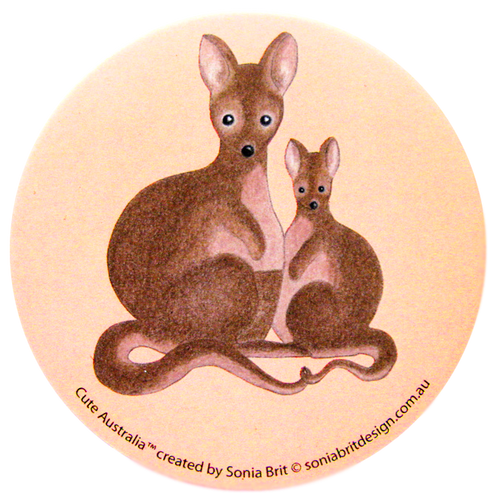 Cute Australia wallaby mirror