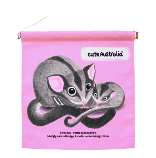 Cute Australia sugar glider wall hanging