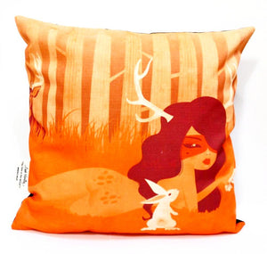 BOB HUB cushion cover - Deer in the woods