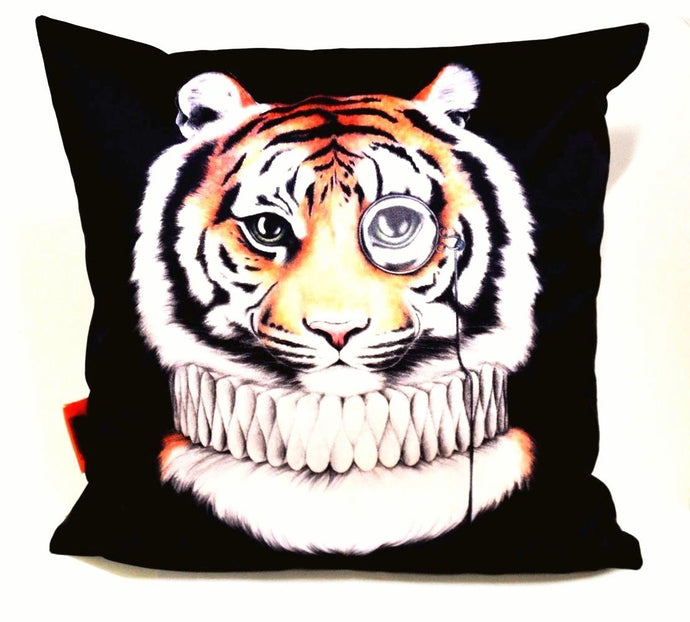 BOB HUB cushion cover (velvet) - Mr Tiger