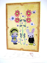 Load image into Gallery viewer, Sonia Brit card - Alice & White rabbit