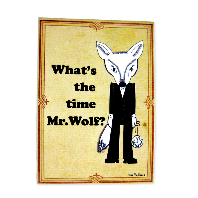 Sonia Brit card - Mr.Wolf