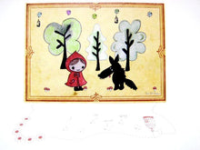 Load image into Gallery viewer, Sonia Brit card - Red riding hood