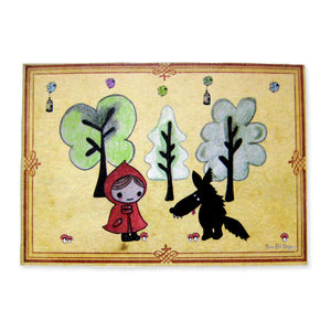 Sonia Brit card - Red riding hood