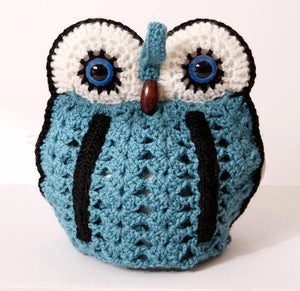 OWL tea cosy 4 pot - blue