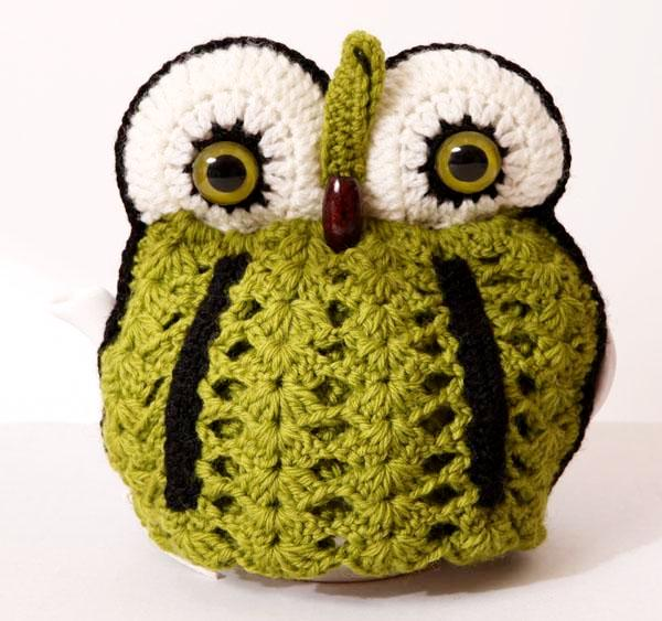 OWL tea cosy 4 pot - fresh green