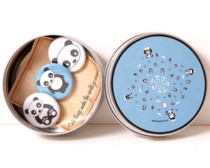 Badge set tin - panda