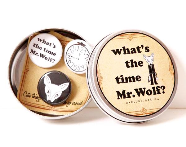 Badge set Mr.Wolf