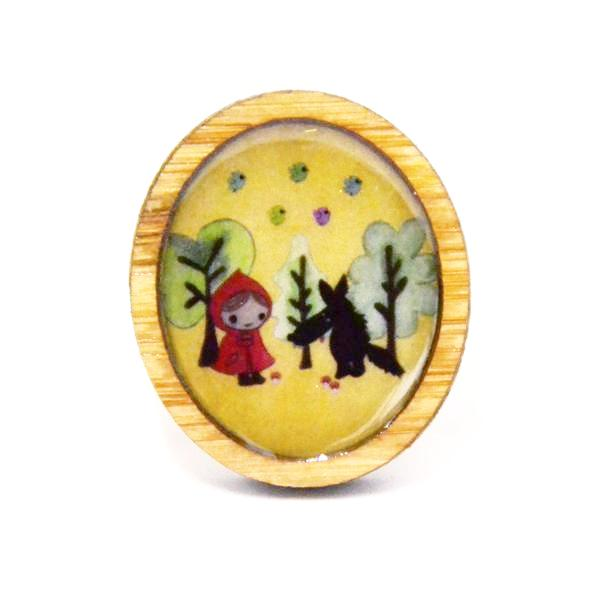 Sonia Brit Resin brooch- Red Riding hood