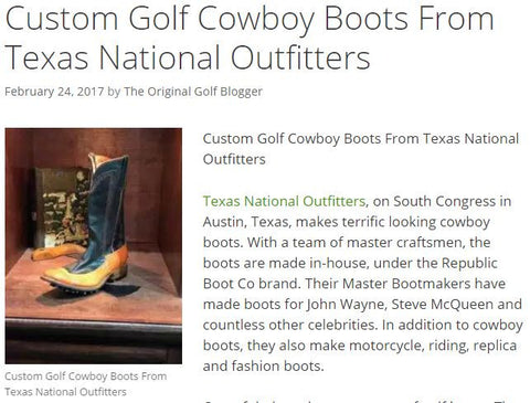 custom golf boots texas