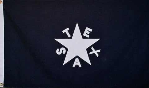 Premium Cotton Flag 3x5' -  DeZavala Texas Republic Flag
