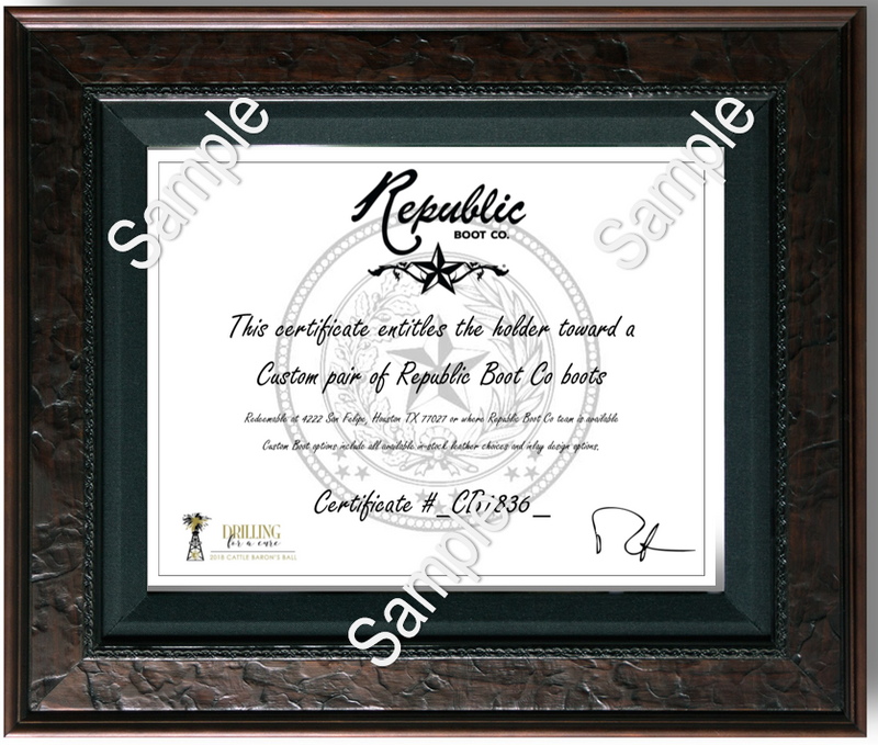 The Custom Boot Experience - Gift Certificate