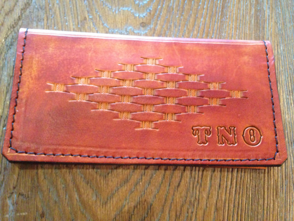 Hand-Tooled Check Book