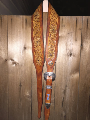 Handtooled Guitar Strap