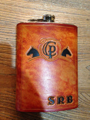 Custom Hand-Tooled Flask