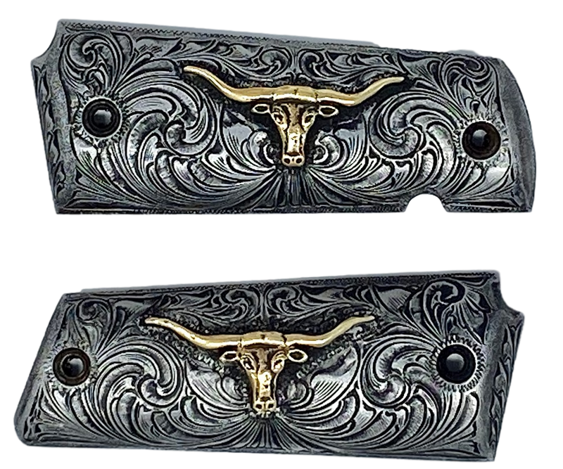 Hand-engraved Antiqued Pistol Grips for Model 1911 (fits all models)