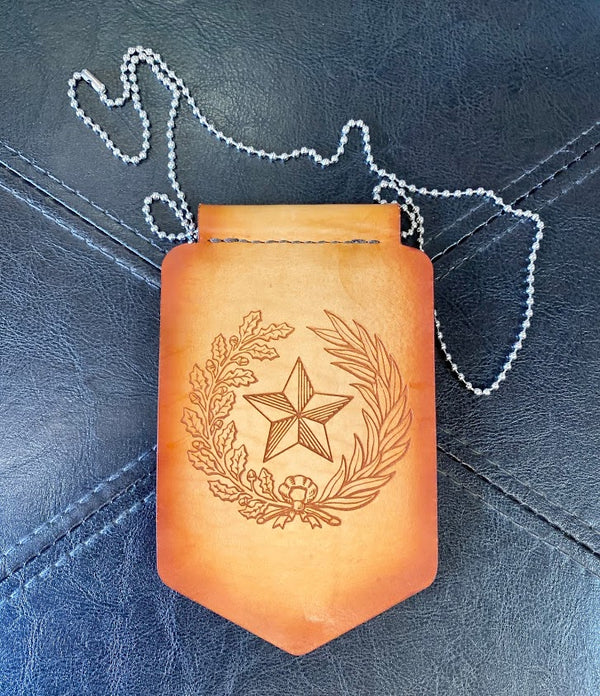 Rodeo Badge Holder - Texas Seal