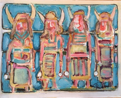 """The Buffalo Dancers"" 16 by 20 inches - Tom Russell"