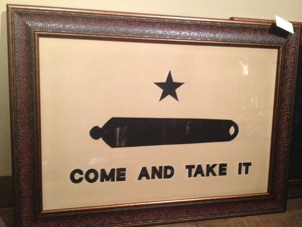 Large Come Amp Take It Framed Flag Beautiful Stitiched