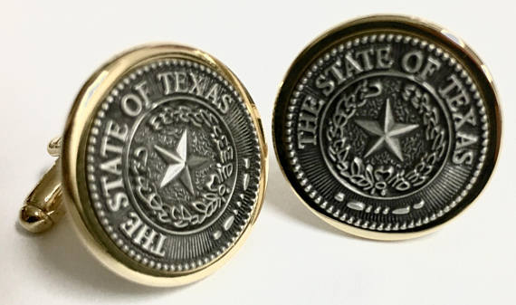 Texas State Seal Cuff Links
