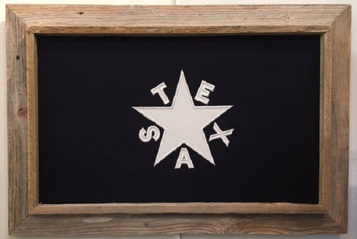 1st Flag of the Texas Republic with Barnwood Frame